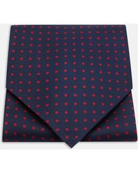Turnbull & Asser - Navy And Red Medium Spot Silk Ascot Tie - Lyst