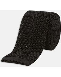 Turnbull & Asser - Black Knitted Silk Tie - Lyst