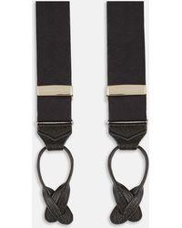 Turnbull & Asser - Black Herringbone Adjustable Silk Braces - Lyst