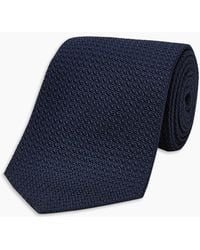 Turnbull & Asser - Long Navy Grenadine Silk Tie - Lyst