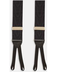 Turnbull & Asser - Black Moiré Formal Silk Braces - Lyst