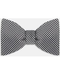Turnbull & Asser - Black And White Houndstooth Silk Bow Tie - Lyst