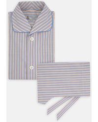 Turnbull & Asser - Blue, Orange And Yellow Multistripe Cotton Pyjama Set - Lyst