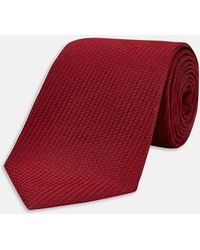 Turnbull & Asser - Burgundy Lace Silk Tie - Lyst