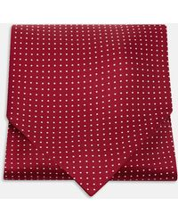 Turnbull & Asser - Burgundy And White Mini Spot Silk Ascot Tie - Lyst