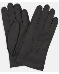 Turnbull & Asser - Walden Black Leather Gloves - Lyst