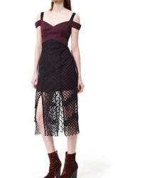 Three Floor - Sonnet Midi Dress - Lyst