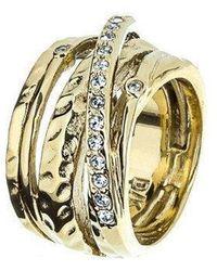 Dyrberg/Kern - Wendolyn Gold Crystal Ring - Lyst