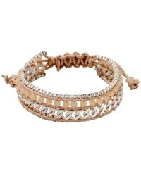 Pilgrim - Silver Plated Pink Bracelet - Lyst