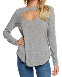 Chaser - Cut Out Detail Long Sleeve Top - Lyst