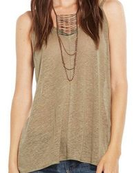 Chaser - Double Strap Linen Top - Lyst
