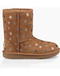 UGG - Kids' Classic Short Ii Stars Boot - Lyst