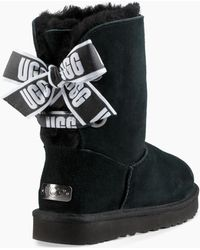 UGG - Customizable Bailey Bow Short Boot Customizable Bailey Bow Short Boot Short Bailey Bow Satin Ribbon - Lyst