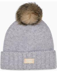 c22dbfb04 UGG High Cuff Knit Hat (beige) Caps in Natural - Lyst