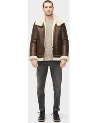 UGG - Men's Auden Shearling Aviator Jacket - Lyst