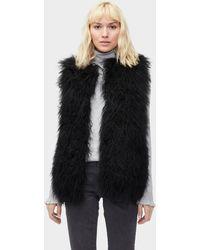 cae7f52cda12 UGG Lorrena Faux Fur Jacket Lorrena Faux Fur Jacket in Black - Lyst