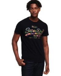 Superdry - Vintage Logo Layered Camo Tee T-shirt - Lyst