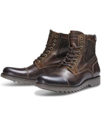 Jack & Jones - Dean Leather Boot - Lyst