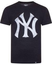 6092cc8d7f3 Supreme X Ny Yankees 47 Brand 2015 Box Logo T-shirt Navy White Men s ...