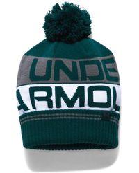 925549423936c Lyst - Under Armour Men s Ua Retro Pom 2.0 Beanie in Blue for Men