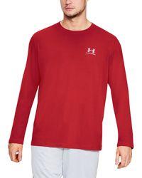 Under Armour - Men's Ua Chest Logo Long Sleeve T-shirt - Lyst