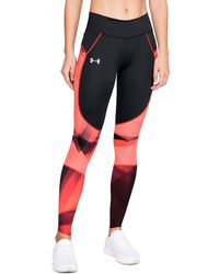 Under Armour - Women's Ua Speedpocket Run Printed Tights - Lyst