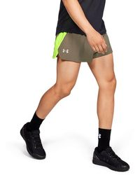 f8744d7491 Under Armour Men's Ua Launch Split Run Shorts in Green for Men - Lyst