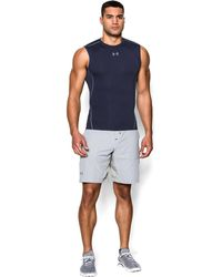 880c93159c39a Under Armour - Men s Ua Heatgear® Armour Sleeveless Compression Shirt - Lyst