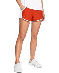 97fbcc12abf3d Under Armour Women's Ua Fly-by Team Printed Shorts - Lyst