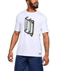 27c3c90b Lyst - TOPMAN White Slim Fit Matrix Crew Neck T-shirt in White for Men