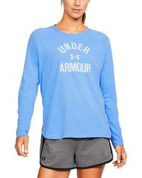 Under Armour - Women's Ua Charged Cotton® Tri-blend Graphic Long Sleeve - Lyst