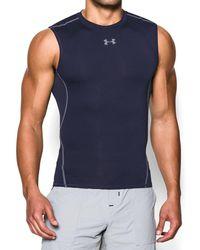 2e3b5c209eb8a Lyst - Under Armour Men s Ua Tech Sleeveless T-shirt in Gray for Men