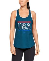 ee9a0518308d7 Lyst - Under Armour Women s Ua Matchup Tank in Blue