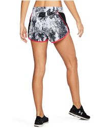 Under Armour - Women's Ua Launch Printed Tulip Shorts - Lyst