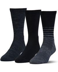 Under Armour - Ua Phenom Twisted Crew Socks – 3-pack - Lyst