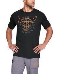 Under Armour - Men's Ua X Project Rock 96 World Champion Short Sleeve T-shirt - Lyst