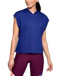 Under Armour - Women's Ua Essentials Burnout Short Sleeve Hoodie - Lyst