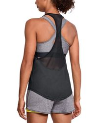 Under Armour - Women's Heatgear® Mesh Back Tank - Lyst