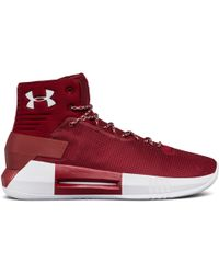 7ee72a5ba85 Lyst - Under Armour Team Drive 4 Basketball Shoe in Red for Men