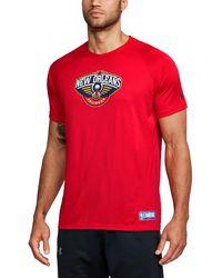 Under Armour - Men's Nba Combine Ua Techtm Logo T-shirt - Lyst
