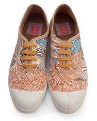 Bensimon - Pink & Brown Tennis - Lyst