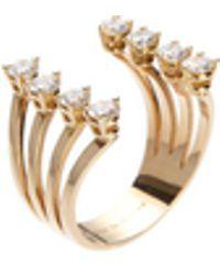 Delfina Delettrez - Ring 'Dots' mit Diamanten 18K Rotgold - Lyst
