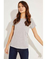 Rag & Bone - Schlichtes T-Shirt Grau - Lyst