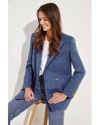 Blazé Milano - Baumwoll-Leinen-Blazer 'Blunose Everyday' Blau - Lyst
