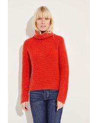 Iris Von Arnim - Cashmere-Rollkragenpullover 'Maryna' Rot 100% Cashmere Made in Italy - Lyst