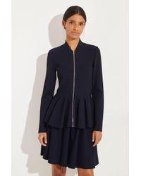 Stella McCartney - Jacke mit ausgestelltem Saum Blau - Lyst