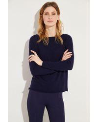 Allude - Baumwoll-Cashmere-Pullover Marineblau - Lyst