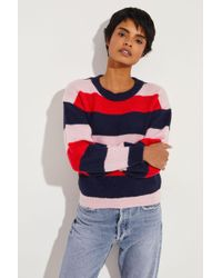 M.i.h Jeans - Gestreifter Mohair-Pullover 'Jackson' Multi - Lyst
