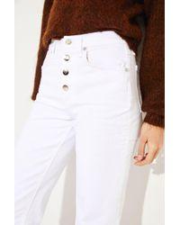 Rag & Bone - Ankle Jeans 'Justine' Weiß - Lyst