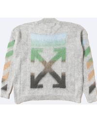 046f1352721924 Lyst - Off-White c o Virgil Abloh Diagonal Galaxy Brushed Crewneck ...